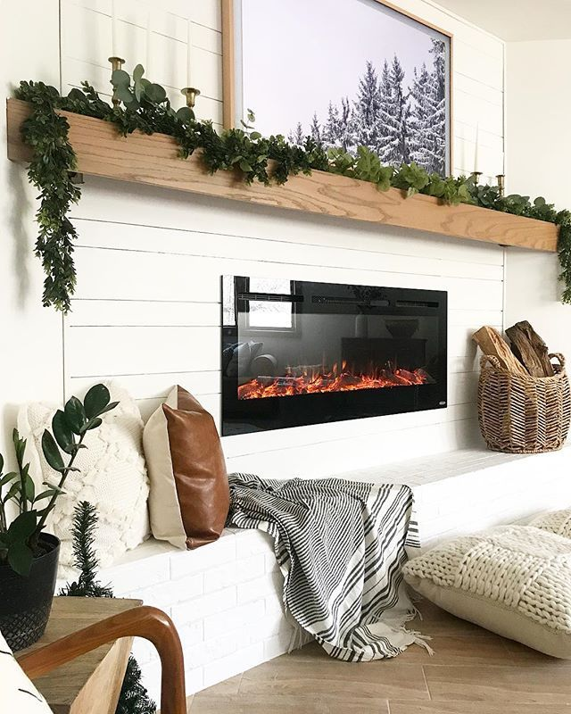Simple and Modern Mantel Makeover | brepurposed