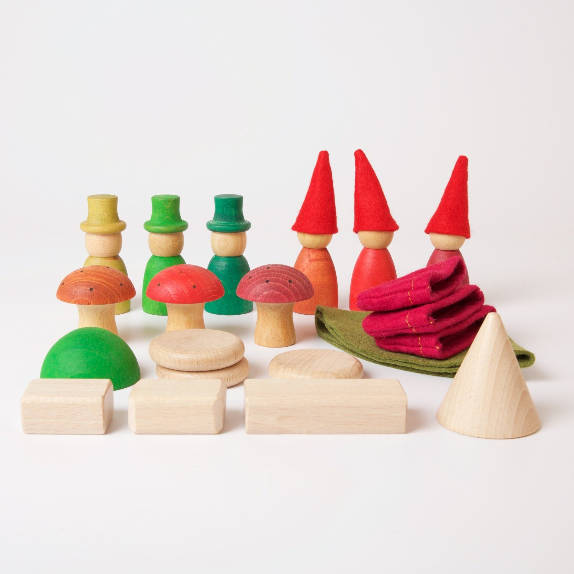 Nins In The Forest Grapat Wooden Toys Learning Colors Toys