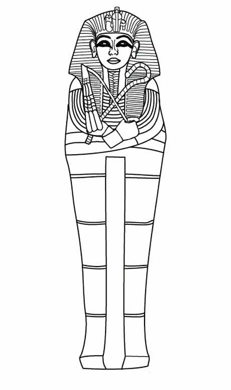 Full Body Sarcophagus Of Ancient Egypt Coloring Page Ancient Egypt For Kids Ancient Egypt Ancient Egypt Lessons