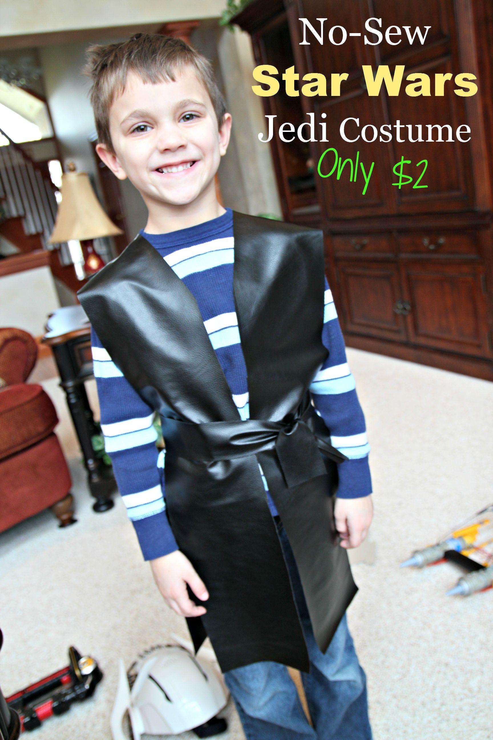 Star Wars Anakin Jedi No-Sew Costume