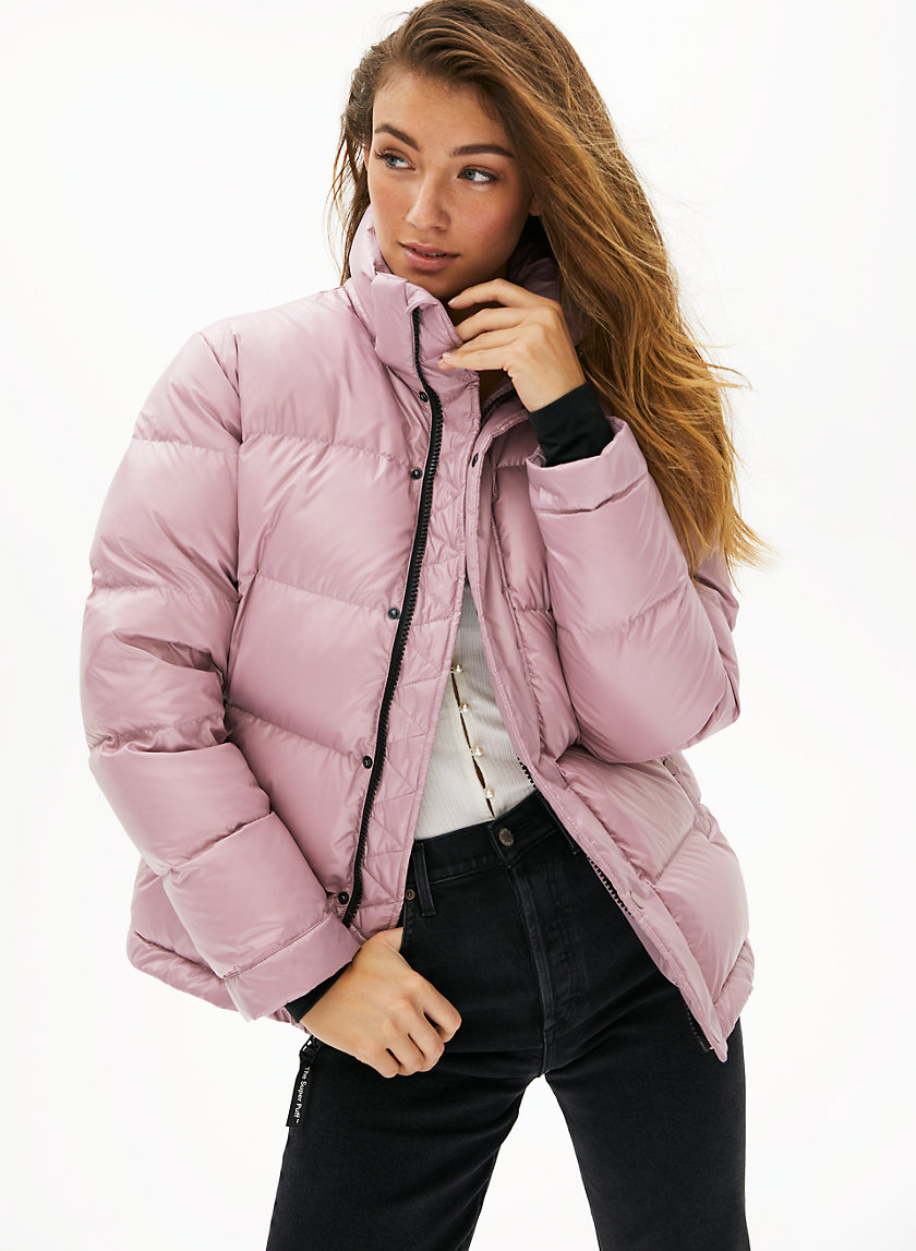 This Puffer Contains 100 Responsibly Sourced Goose Down Engineered To Deliver Warmth To 30 Deg C Puffer Jacket Style Pink Puffer Jacket Outfit Super Puff [ 1147 x 840 Pixel ]