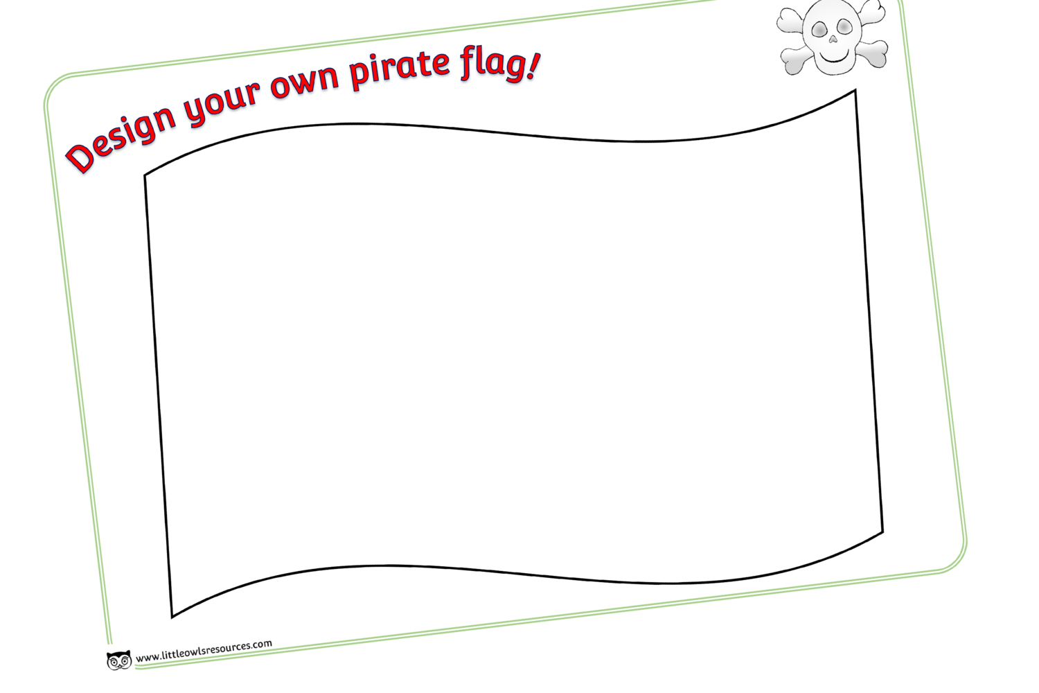 Free Design A Pirate Flag Early Years Eyfs Printable