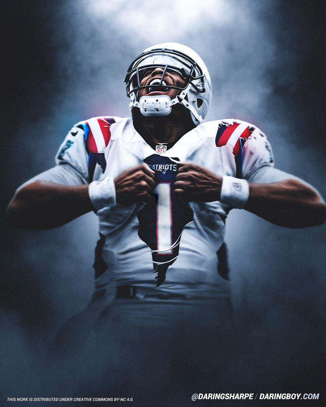Cam Newton New England Patriots Carolina Panthers In 2020 New England Patriots Wallpaper New England Patriots New England Patriots Logo