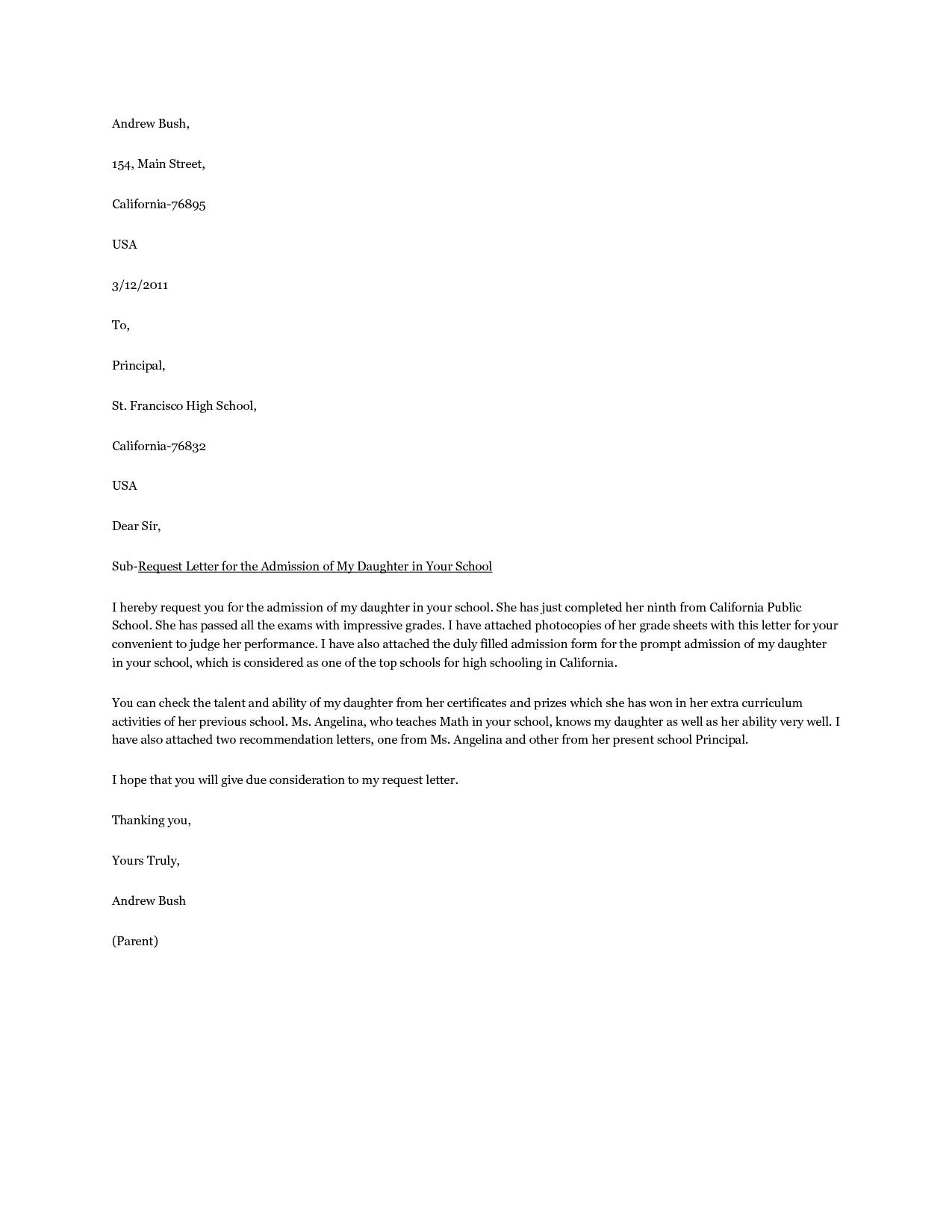 Best Photos School Acceptance Letter College Application Format