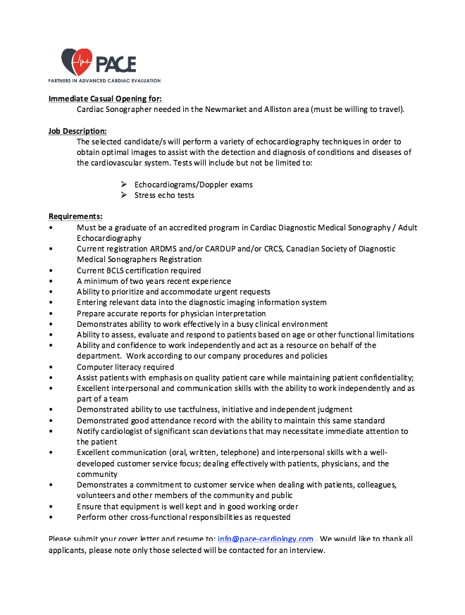 Echocardiographer Job Description Resume Httpresumesdesign