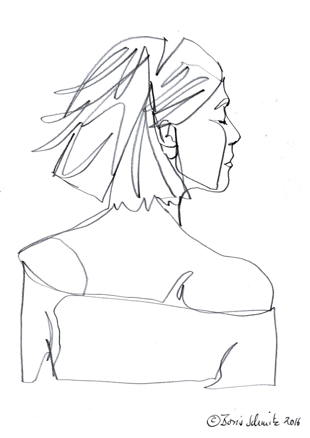 It's just a picture of Clean Continuous Line Drawing Artists