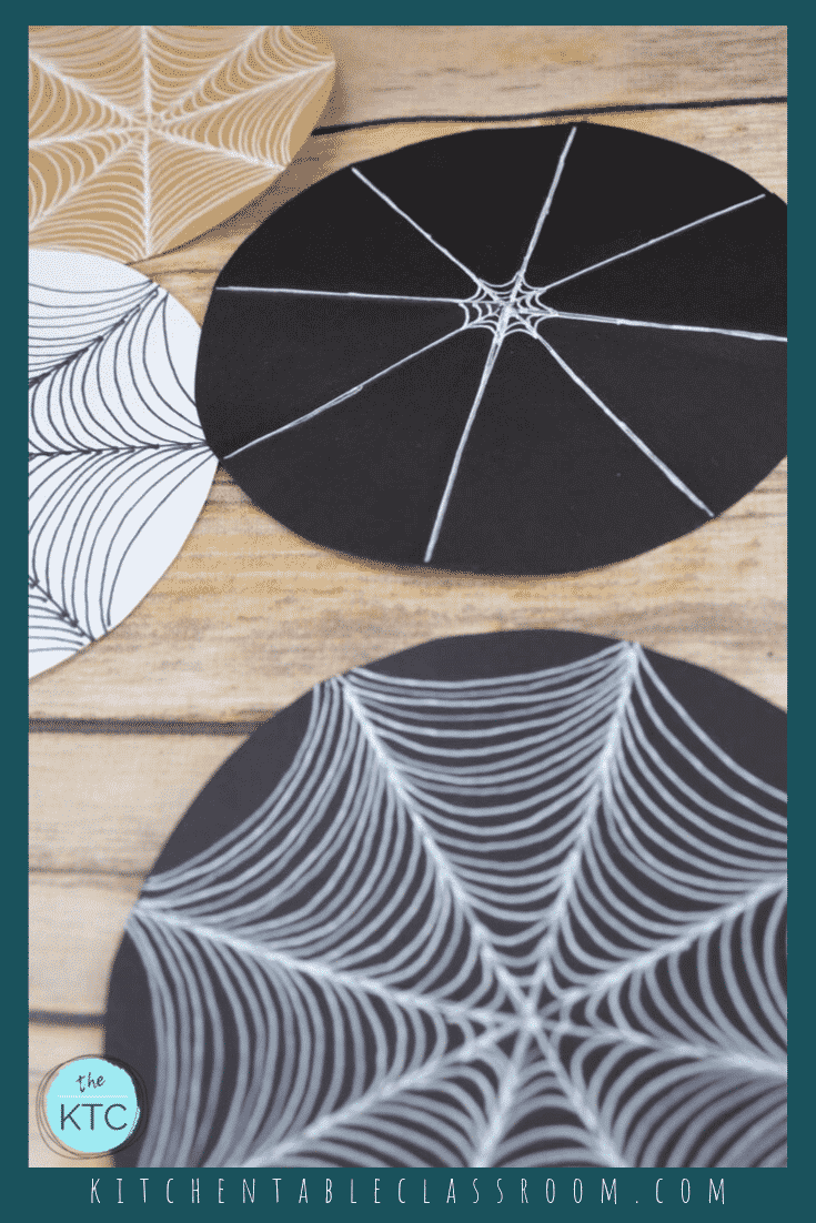 How To Draw A Spider Web A Drawing Tutorial The Kitchen Table Classroom Spider Web Drawing Drawing Tutorial Halloween Spider Decorations