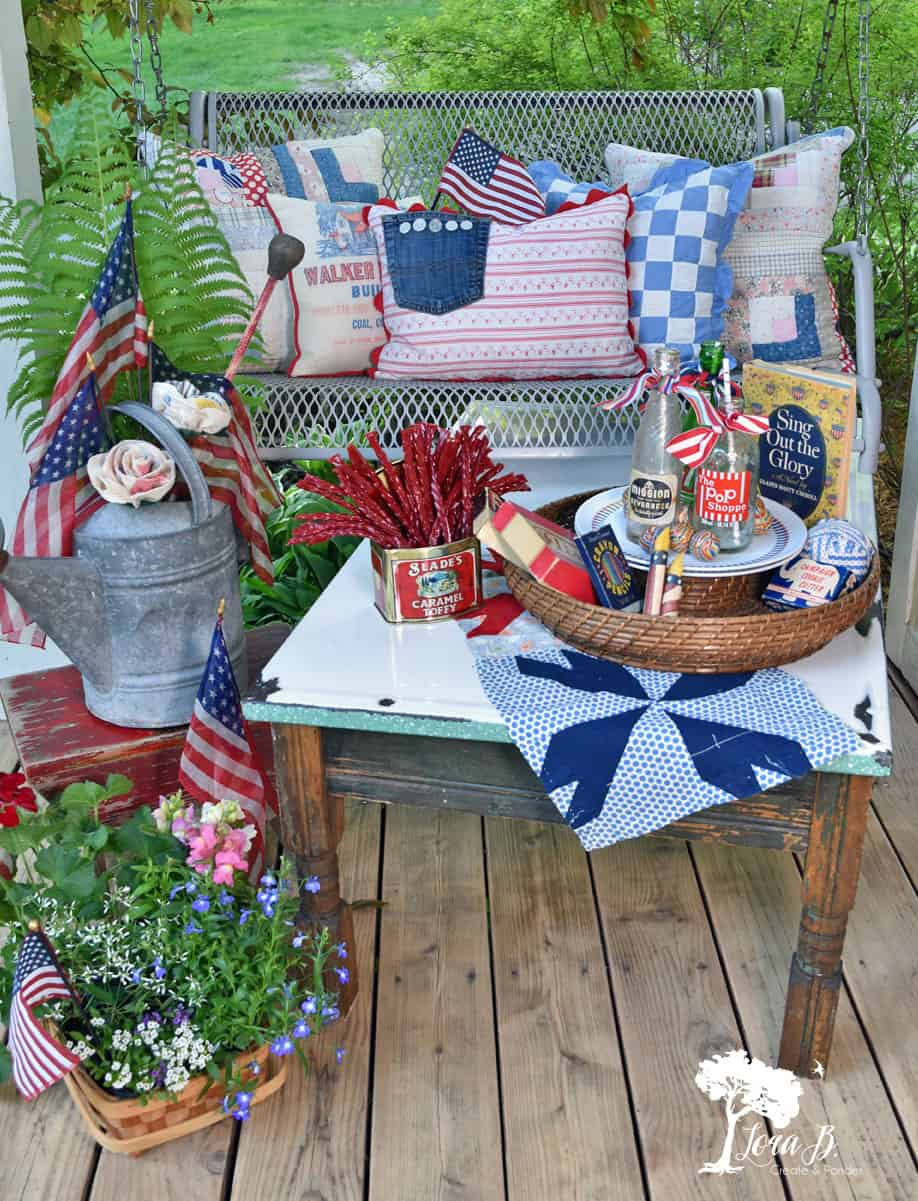 Get Patriotic Porch Decorating Ideas Vintage Styled Fourth Of July Decor 4th Of July Decorations Porch Decorating