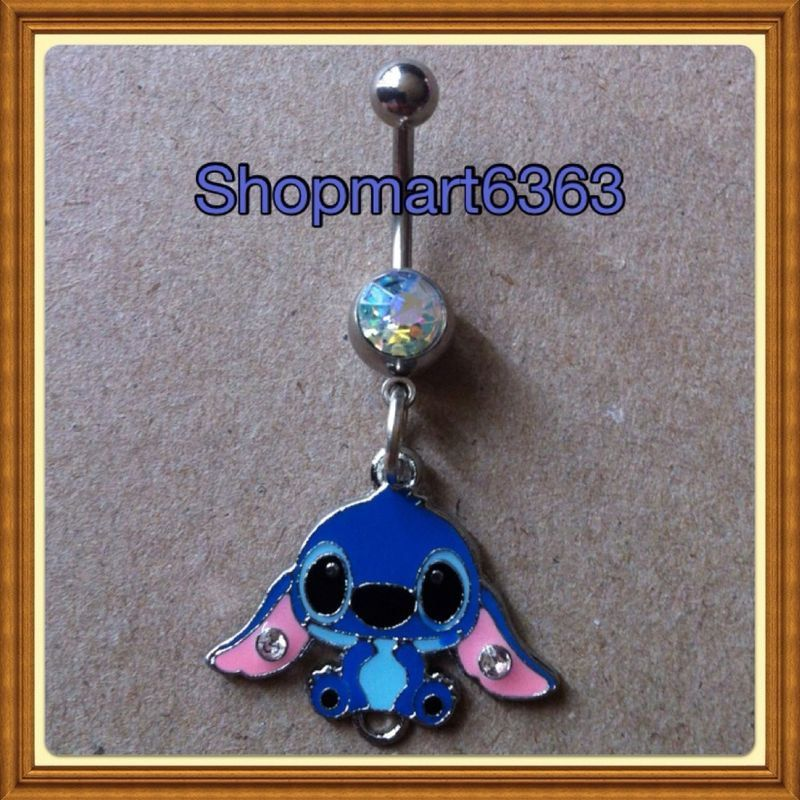 Lilo Stitch Belly Ring 316l Surgical Steel 14 Gauge New 1