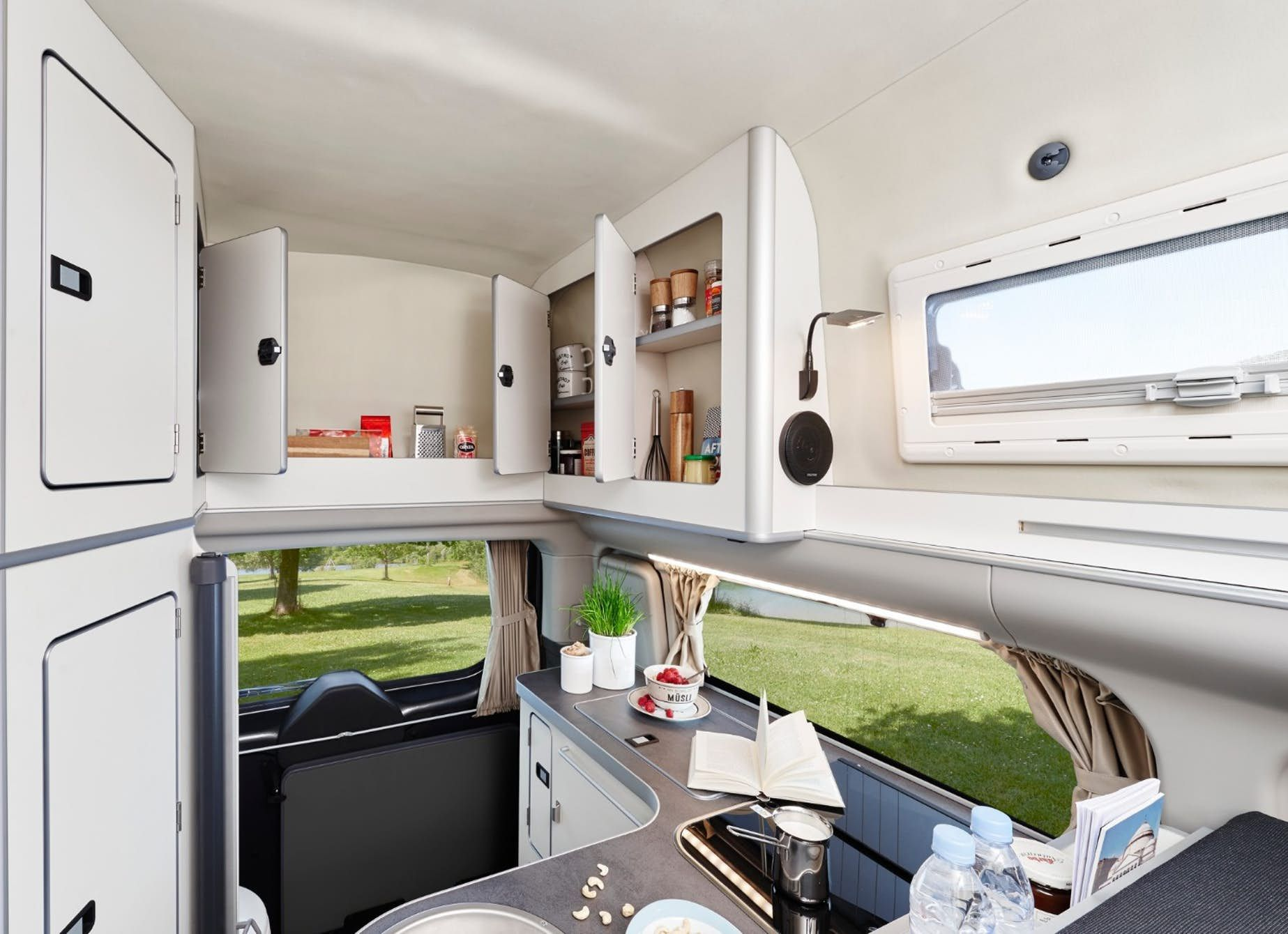 Westfalia Squeezes A Private Toilet Into Its Latest Ford Transit Camper Van Ford Transit Camper Transit Camper Mini Camper