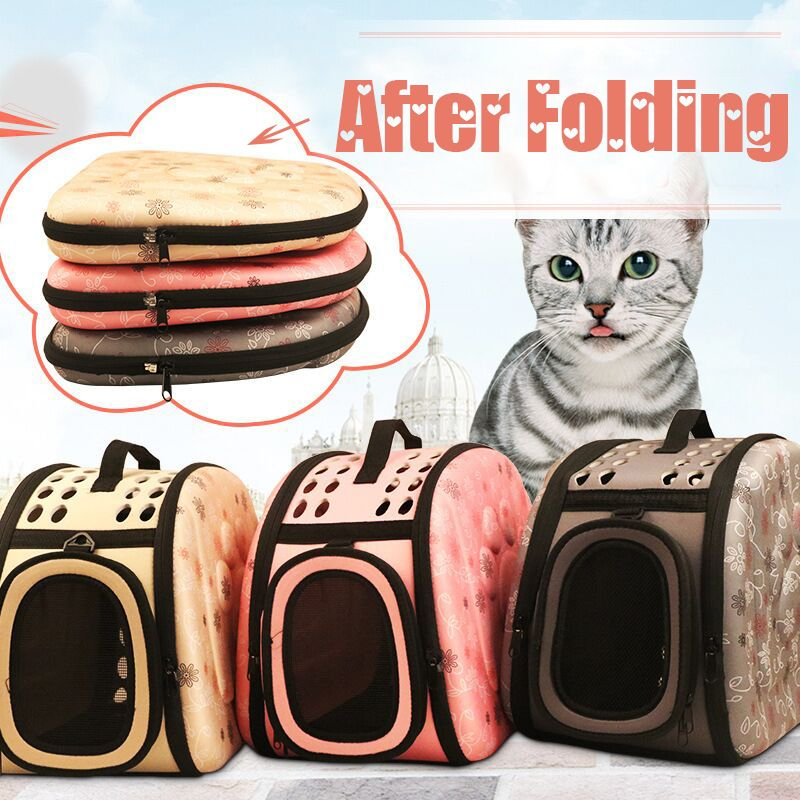 Techome Hot Sales Cat Bag Dog Cat Carrier Breathable Folding Outdoor