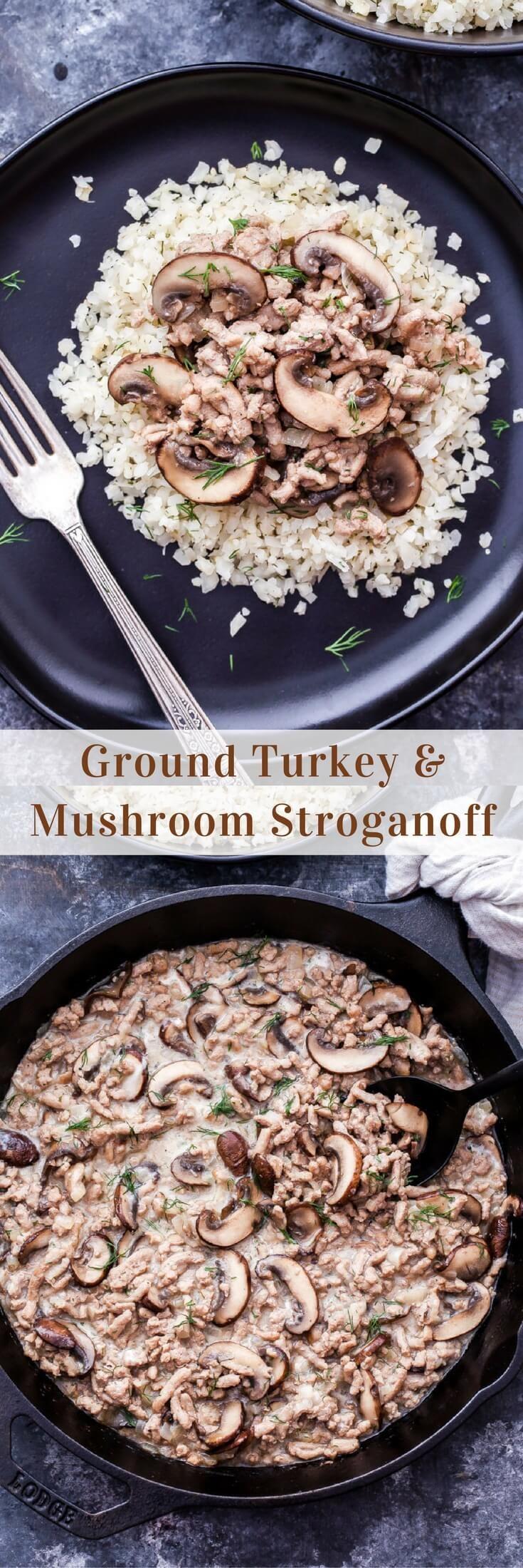 Ground Turkey and Mushroom Stroganoff - Recipe Runner