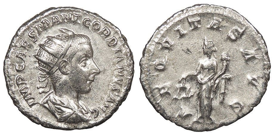 Ancient Lovely Roman Coin Silver Antoninianus Gordian Iii 238-244 Ad Coins Aeqvitas Avg
