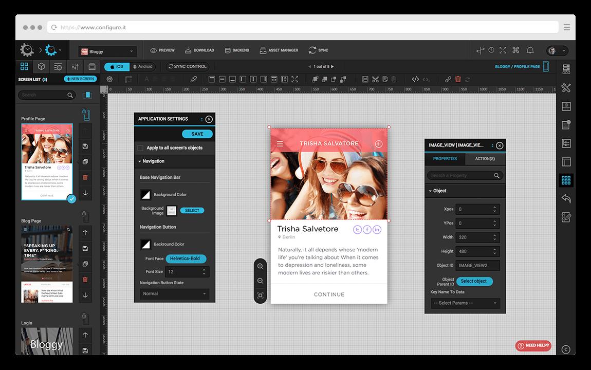 Cross-platform mobile apps development tools for online, easy Native