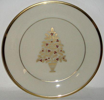 Lenox Eternal Christmas Salad Accent Plate Christmas China Patterns Christmas China Christmas Tableware