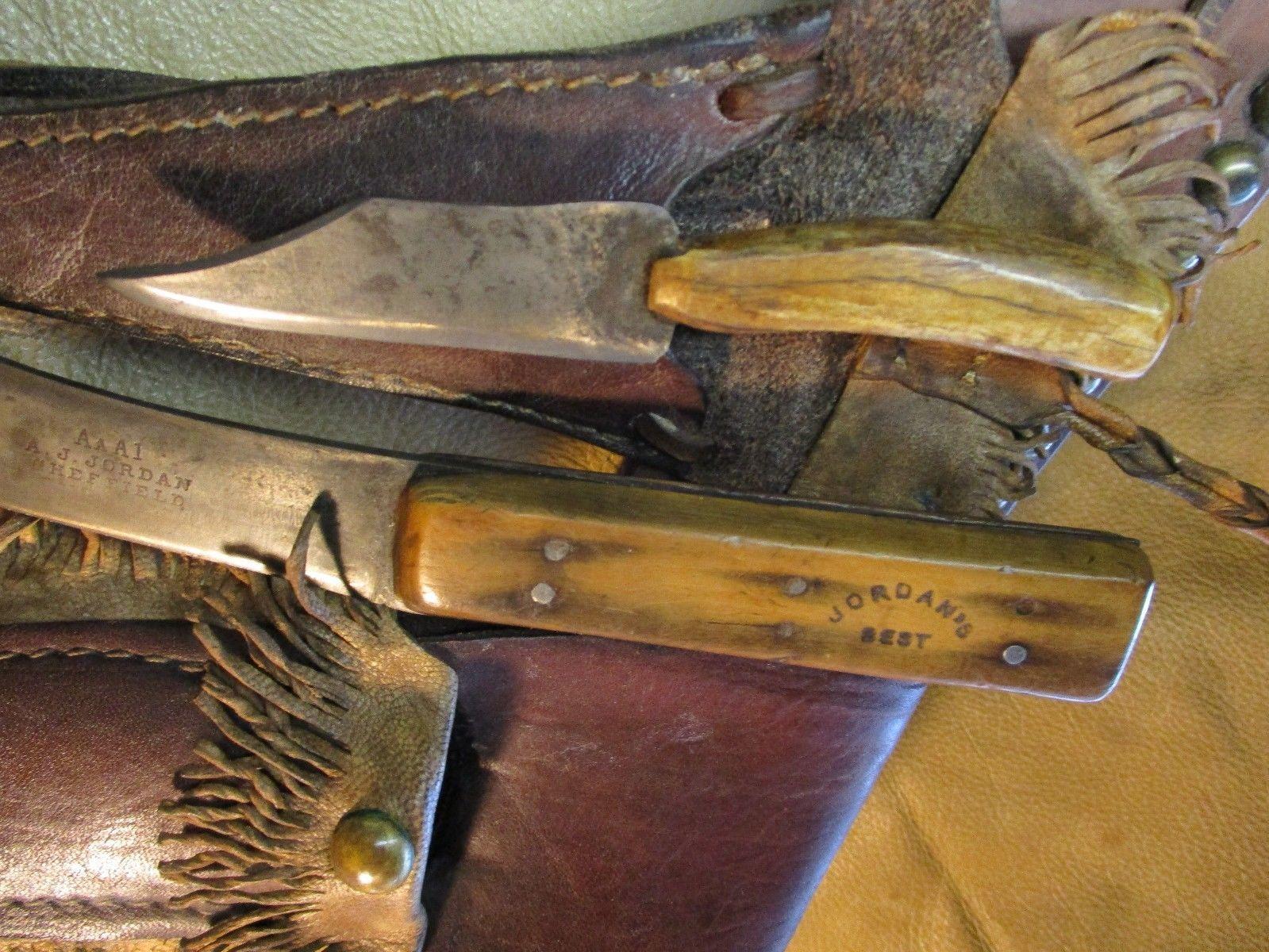 Sheffield Trade Knife & Trappers Neck Knife, Buffalo Knife