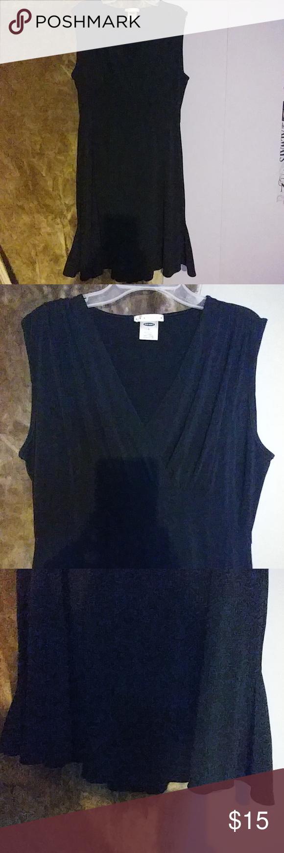Little Black Dress Size Large Old Navy, V Neck, sexy Old Navy Dresses Midi