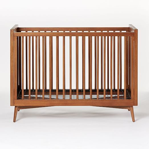 Mid Century Convertible Crib Acorn Cribs Mini Crib
