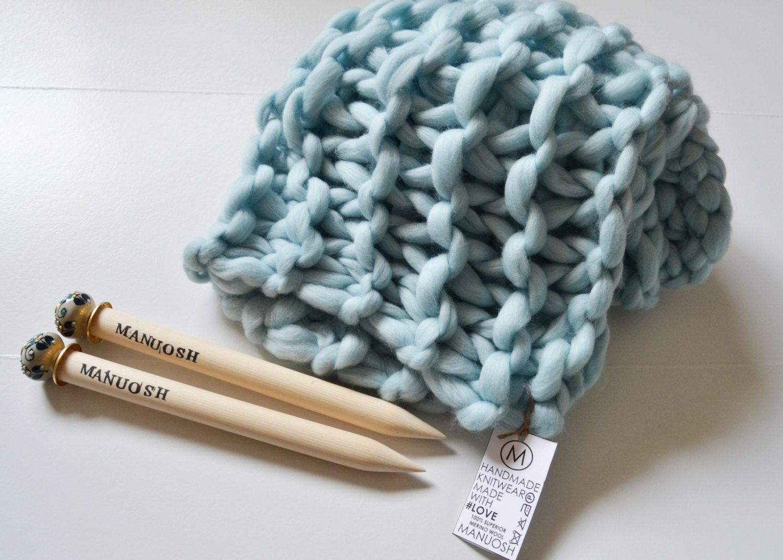 Manuosh Super Chunky Hand Knit 30x35 Merino Wool baby