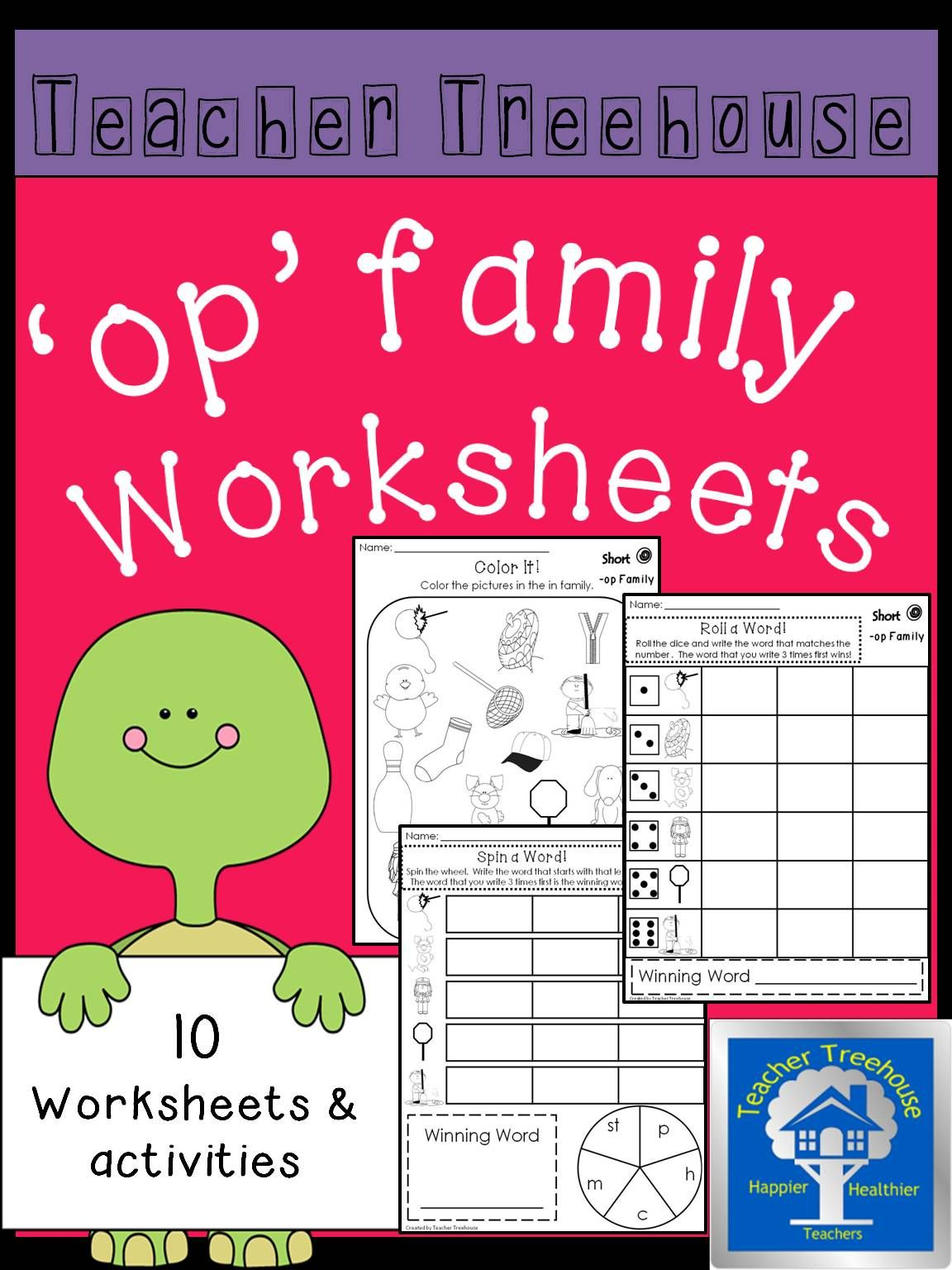 op Word Family Worksheets | Morning work, Worksheets and Homework