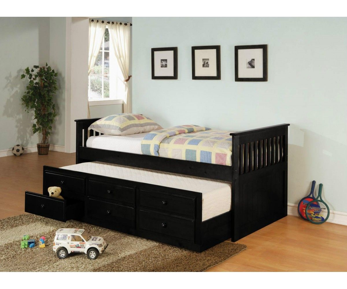 La Salle Twin Captain's Bed with Trundle and Storage