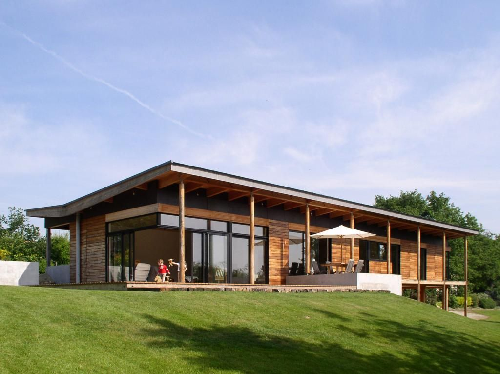maison contemporaine terrain pentu - Recherche Google Projets à - plan maison terrain pente