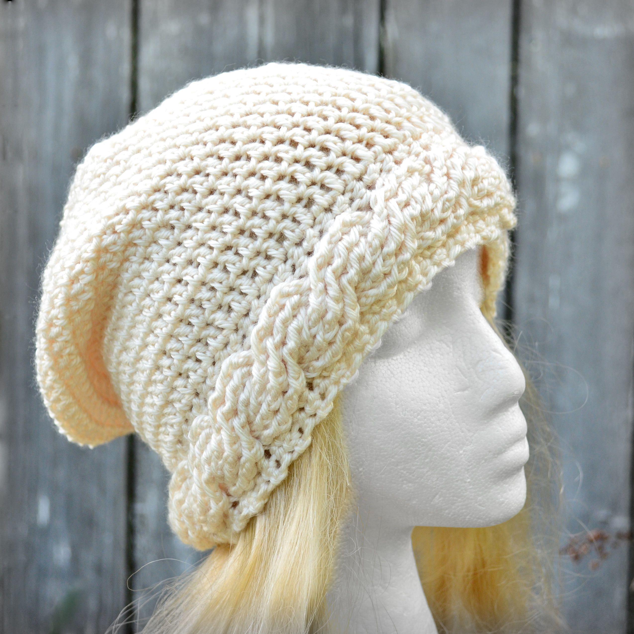 365c939091b Crochet slouch hat