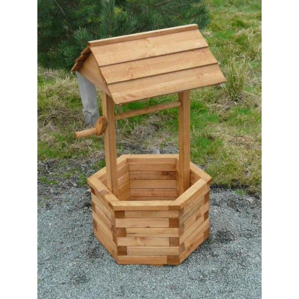Wooden Wishing Wells | Wooden Garden Wishing Well Planter   Riverside  Woodcraft