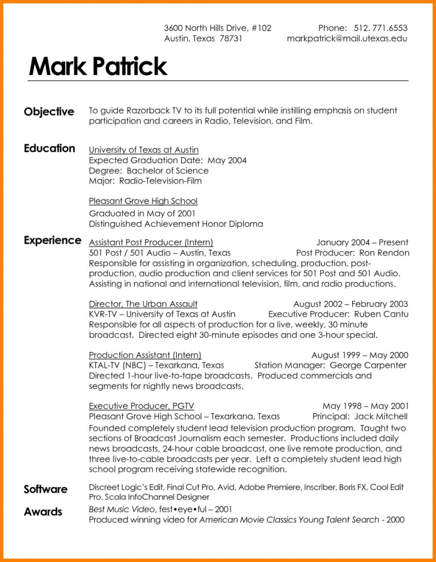By Industry Resume examples, Student resume template