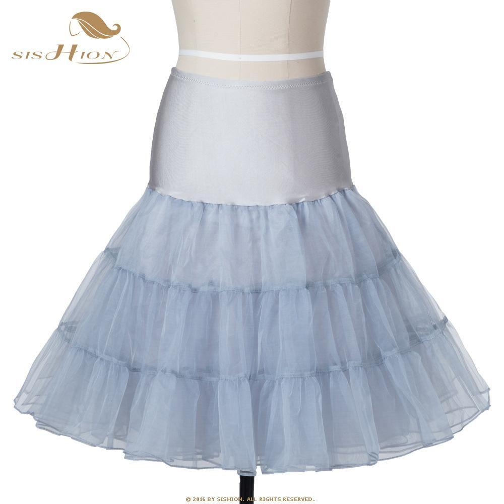 d325b7dd776e SISHION Tutu Skirt Swing Rockabilly Petticoat Underskirt Crinoline Fluffy  Pettiskirt for Wedding Retro Vintage Tulle Skirt 134