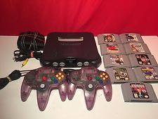 Nintendo 64 Console Bundle , with 2 Controllers & 9 games   FAST SHIP!!!