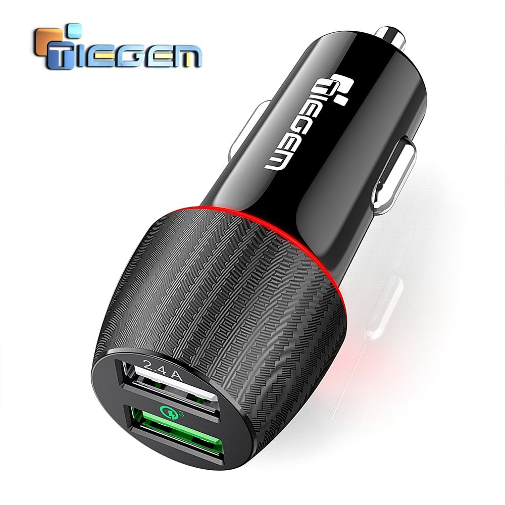 Tiegem Quick Charge 3 0 Dual Usb Car Charger 30w Universal Travel Car Charger Mobile Phone Charger Adapter For Iphone X Sam Charger Car Car Usb Charger Adapter