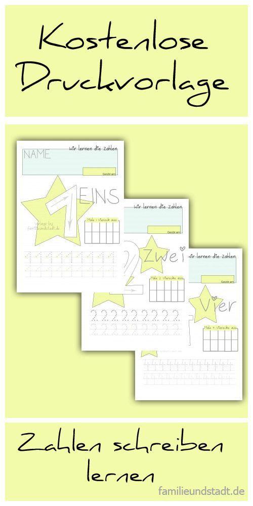 Wir üben die Zahlen 1-5 | Zahlen schreiben, Zahlen lernen und ...