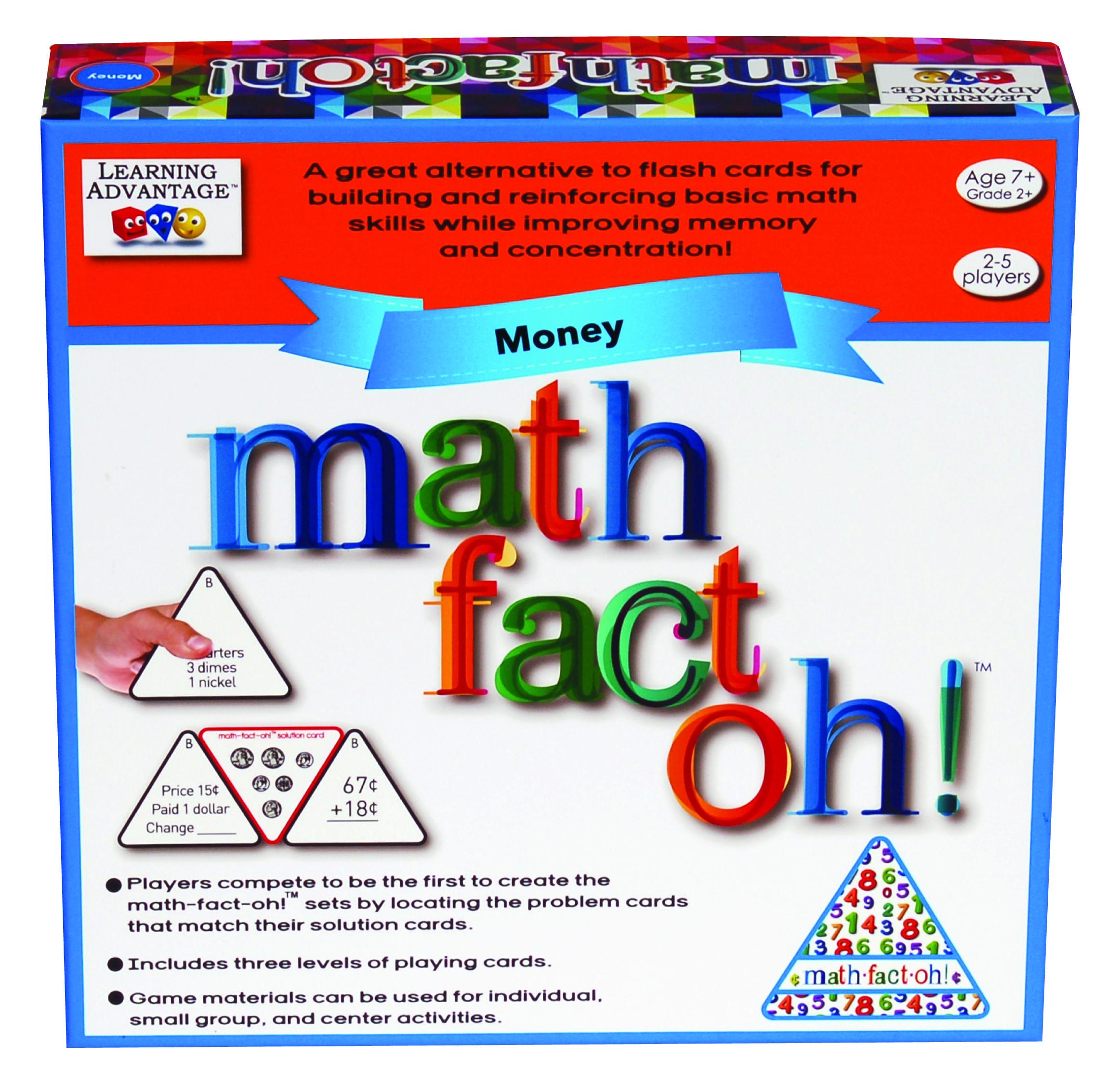 Math Fact Oh Money 2178 Math Facts Math Made Easy Learn