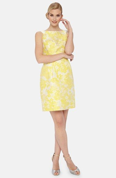 Tahari Fl Brocade Sheath Dress Available At Nordstrom Bridesmaid In Pink Diffe Style From Macy S Version But Still Would Work