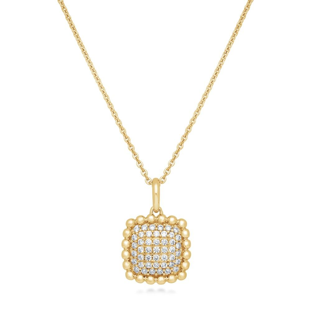 This square pendant necklace's simple design and soft sparkles make it an everyday essential to complement every outfit.…