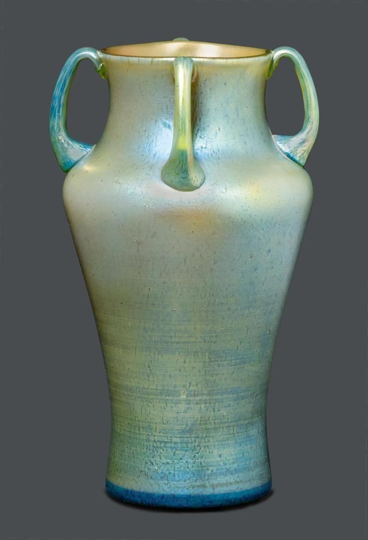 Loetz Glass Art Glass Sculpture Vase