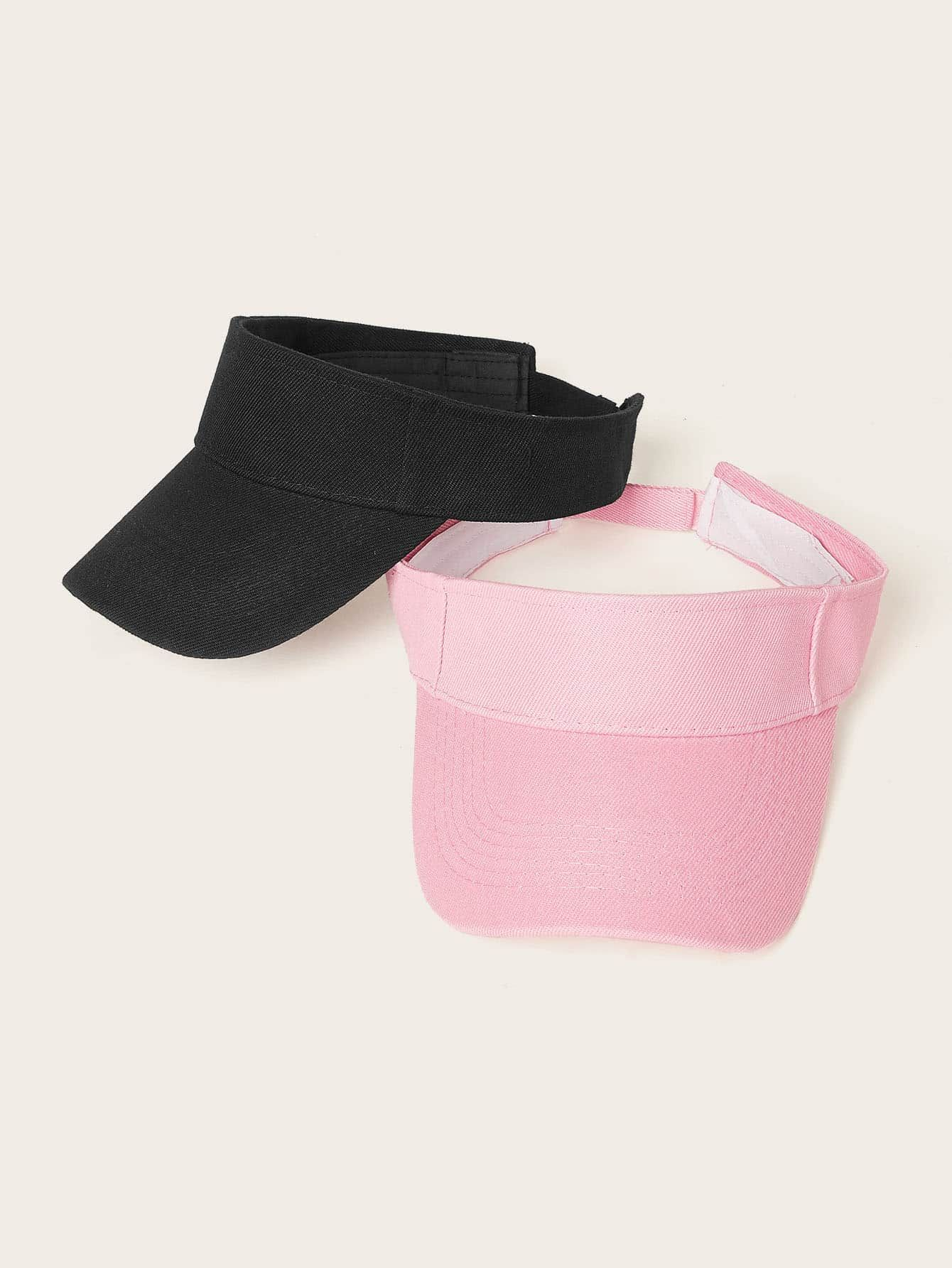 2pcs Solid Visor Hat SHEIN USA in 2020 Visor hats