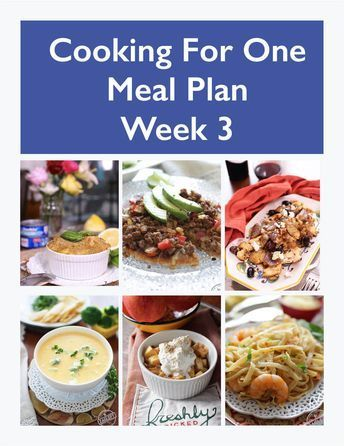 ThisCooking For One Meal Plan, Week 3includes recipes, a grocery list and co... - #cooking #grocery #includes #recipes - #BudgetMealPlanning