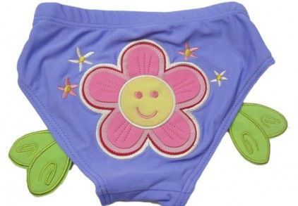 Summery Lavender Swimwear For Infant Boys With A Flower In India