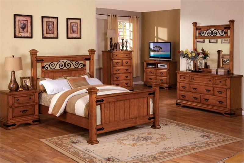 American Oak Country Bedroom Furniture Rustic Oak Wood Bed Country Bedroom Furniture Oak Bedroom Bedroom Furniture Sets