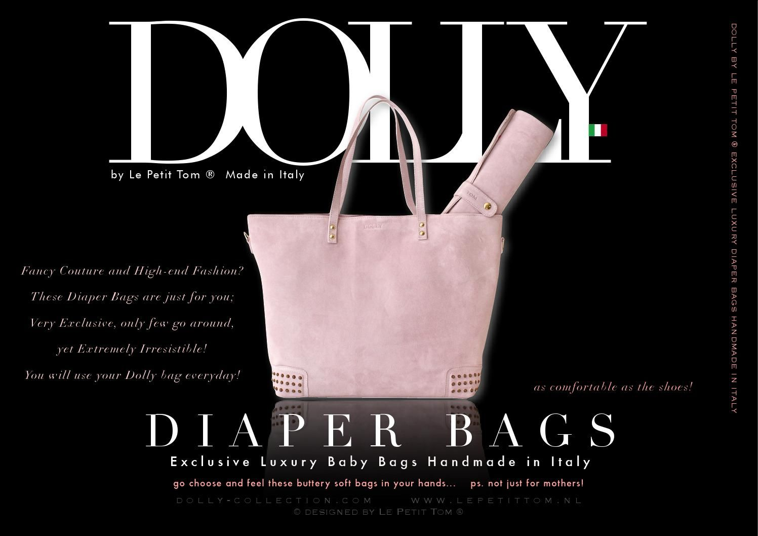 DOLLY Diaper Bags by Le Petit Tom ® Hand made in Italy