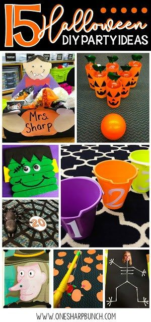 simple diy halloween party ideas for the classroom including halloween games halloween crafts and halloween food ideas dont forget to check out the