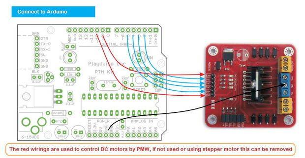 arduino modules l298n dual h bridge motor controller arduino rh pinterest com arduino wiring.h error arduino wiring.h missing