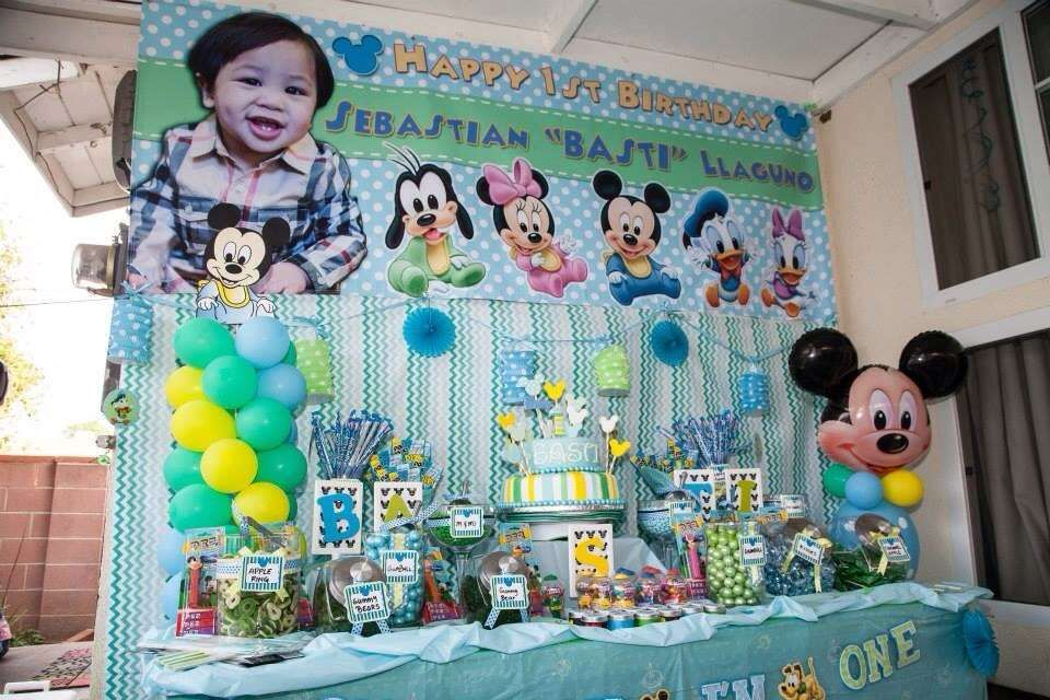 Baby Mickey Mouse Birthday Party Ideas