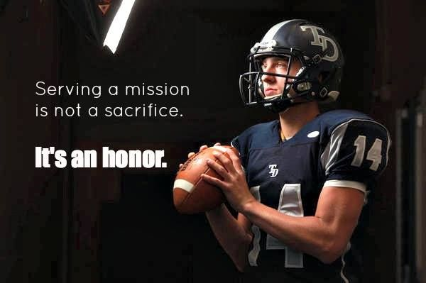 Aaron Zwahlen of Modesto, Calif., chose to put a promising college football career on hold to serve an LDS mission.