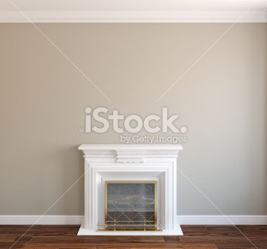 Interior with fireplace. Lizenzfreies Foto