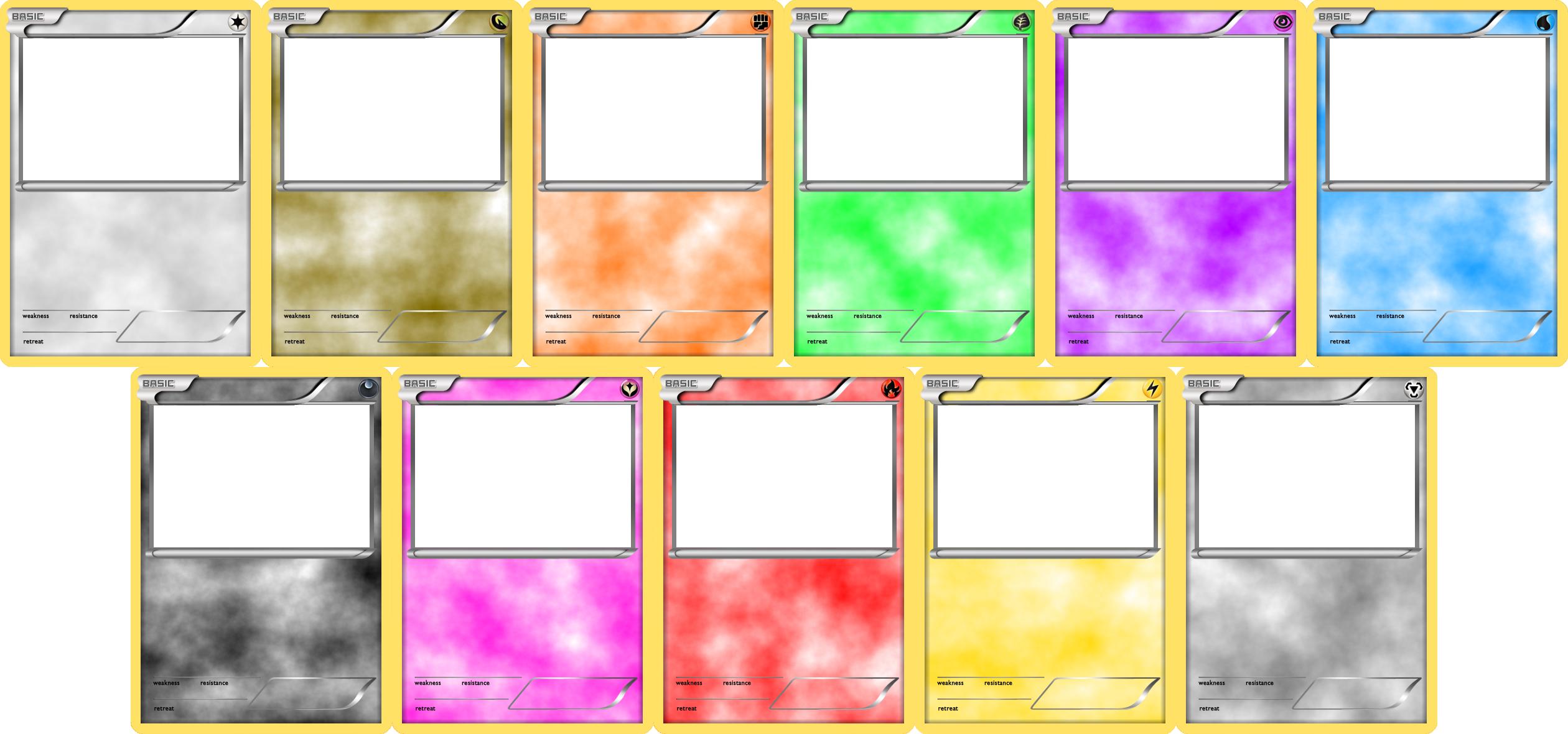 Pokemon Blank Card Templates Basic By Levelinfinitum On Deviantart In 2020 Pokemon Card Template Trading Card Template Blank Card Template