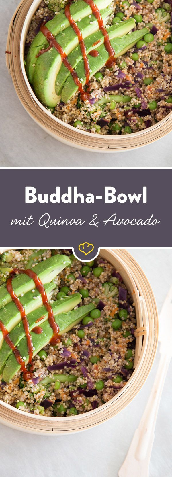 Superfood Buddha bowl with quinoa and avocado -