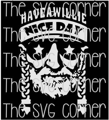 Have A Willie Good Day Nelson Svg File Silhouette Projects
